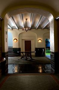 Hawai'i State Art MuseumSpanish Mission Revival, 1928Lobby from a hallwayHonolulu, Hawai'i