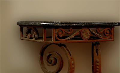 Hawai'i State Art MuseumSpanish Mission Revival, 1928 Detail of an ornate wrought-iron tableHonolulu, Hawai'i