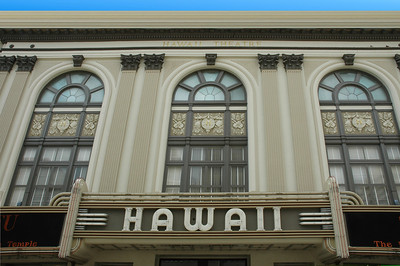 "The Hawaii Theatre was built in a  Neo-Classical style in 1922. In the mid-1930s Art Deco elements were added, including the large neon marquee, the largest ever built in Honolulu.  The Hawaii Theatre, 1130 Bethel St., Honolulu. Called the ""Pride of the Pacific"" when it opened in 1922, this vaudeville and movie showcase had fallen on hard times by the 1980s. After a dramatic restoration, it reopened in 1996 as a 1,400-seat performing arts center. It shows films only occasionally"