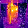 IR photo of heated boiler.
