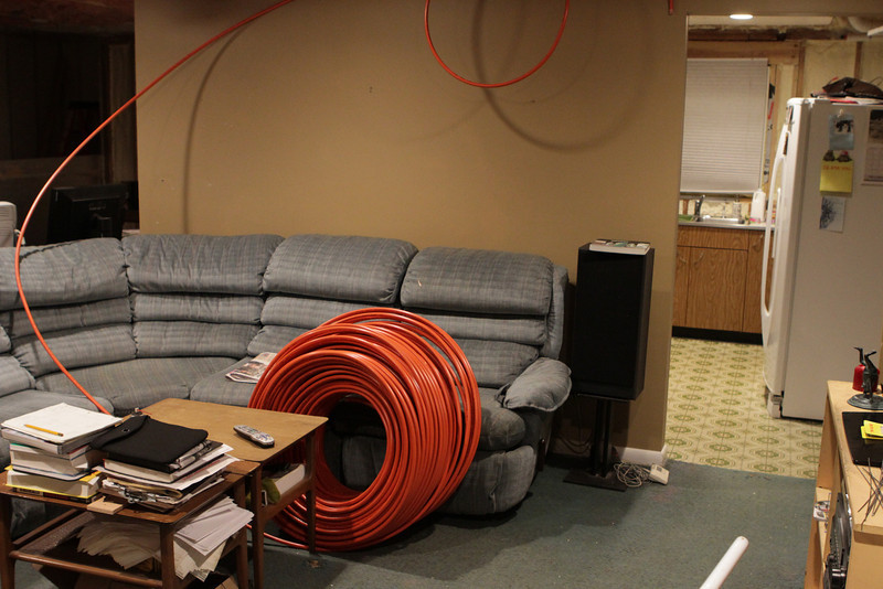 """1000 foot roll of 1/2"""" Pex-Al-Pex.  There was a total of perhaps 25' (in 1-5' pieces) left over when I finished."""
