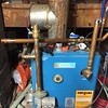 Beginning of heating loop supply reconfiguration.