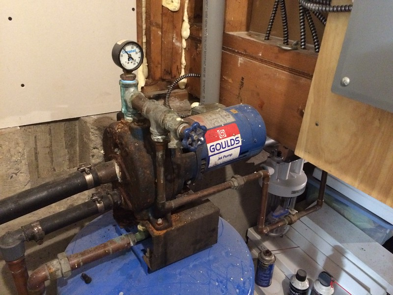 Water pump as previously configured.