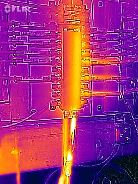 IR photo of Manabloc.  Hot water section visible at right.