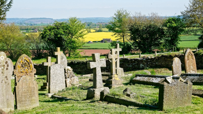 View towards the Coppett Hill and the Forest of Dean from St Weonard's Church
