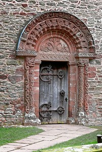 The Church of St Mary and  St David, Kilpeck (Romanesque Entrance)