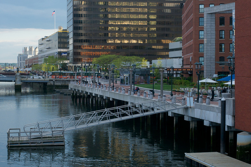May 12, early evening stroll around Fort Point in Boston.