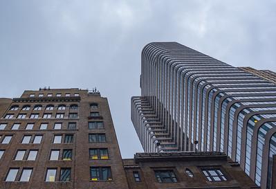 Looking up in Midtown