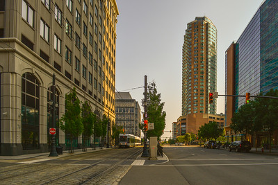 Light Rail & Tall buildings in Exchange Place