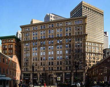 A cold Downtown Boston
