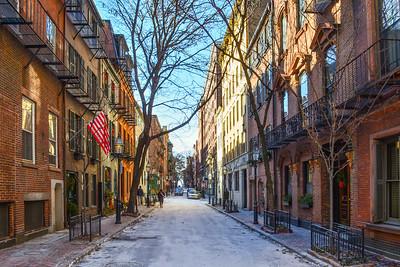 Freezing Boston Side Street