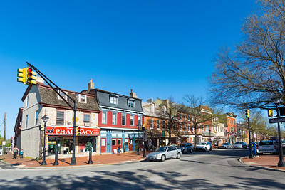 High Street in Downtown Burlington,New Jersey
