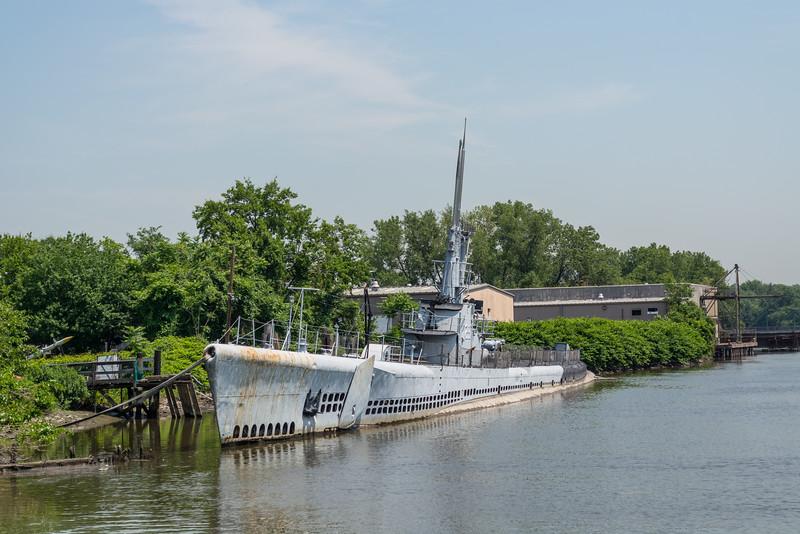 USS Ling docked in Hackensack,New Jersey