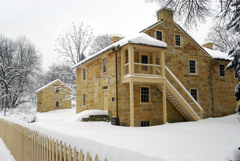 ordinary building a house in minnesota #3: Henry Sibley House - Mendota, MN (1835)u003cbr /u003e Oldest house