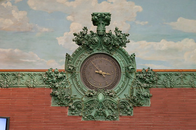 Central terracotta clock: overview