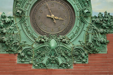 Central terracotta clock: lower section