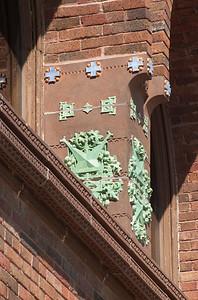 Terracotta detail, side façade