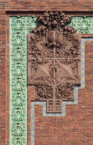 Terracotta detail on upper left corner