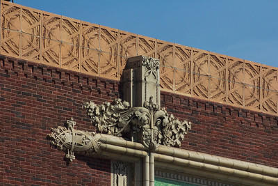 Terra cotta ornament on side facade