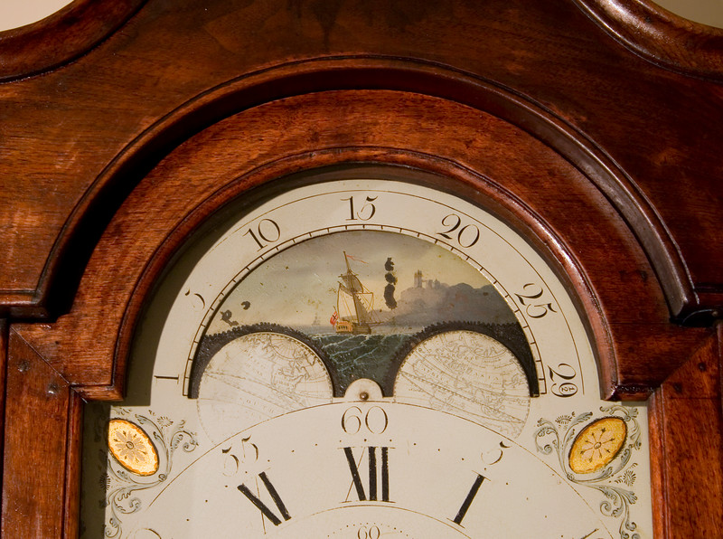 Woodville Plantation: interior: grandfather clock detail