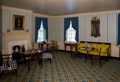 Woodville Plantation: interior: parlor