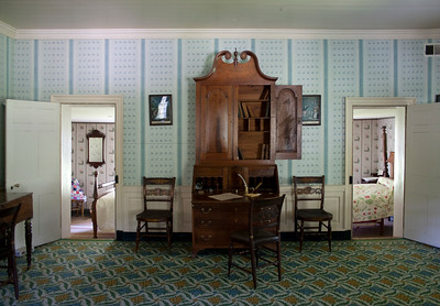 Woodville Plantation: interior: parlor and bedrooms