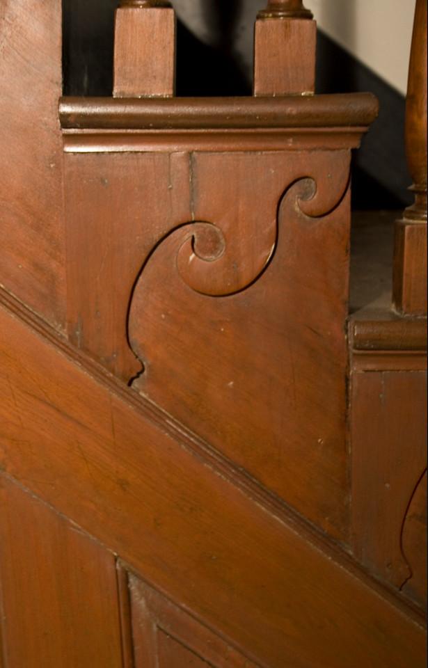 Woodville Plantation: interior: staircase detail