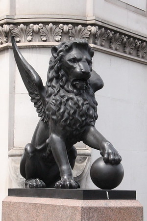 Winged Lion with ball on the North Parapet [ West End]