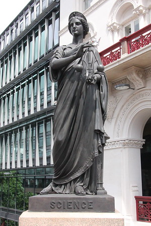 Statue to Science [North Parapet; East End]