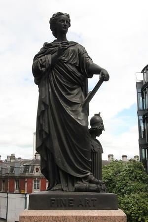 Statue to Fine Art [North Parapet; West End]