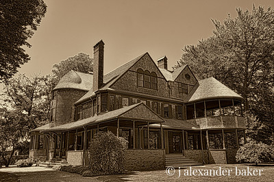 Issac Bell House in Sepia