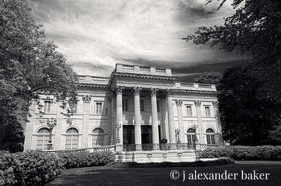 Marble House, Newport, RI in Black and White