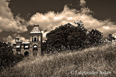 Olana, home of Hudson River School painter, Frederick Church - Hudson, NY - Sepia
