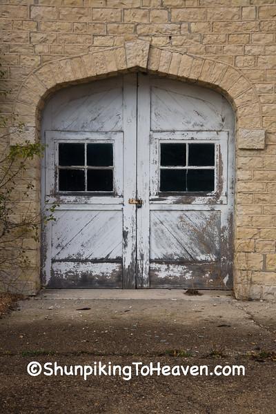 Door of Carriage House & Chapel, Waukesha County, Wisconsin