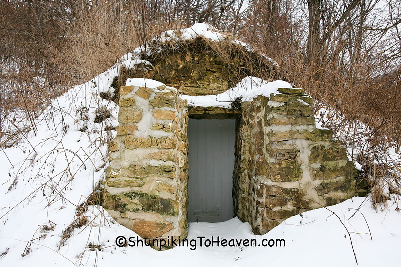 Root Cellar in Winter, Richland County, Wisconsin