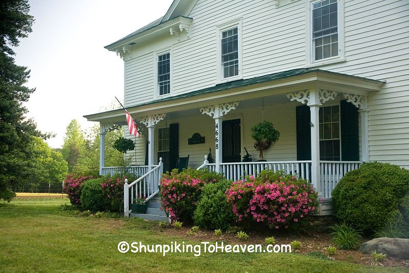 Front Porch with Azalea Bushes, Alamance County, North Carolina