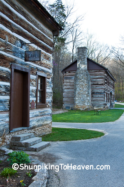 Sheeks House and the Granny White House, Spring Mill State Park, Mitchell, Indiana
