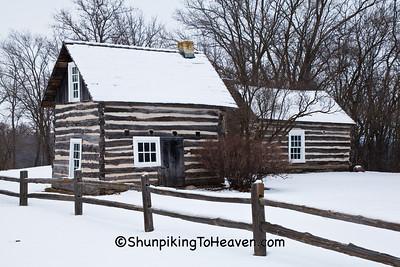 Log Cabins, Pioneer Aztalan, Jefferson County, Wisconsin