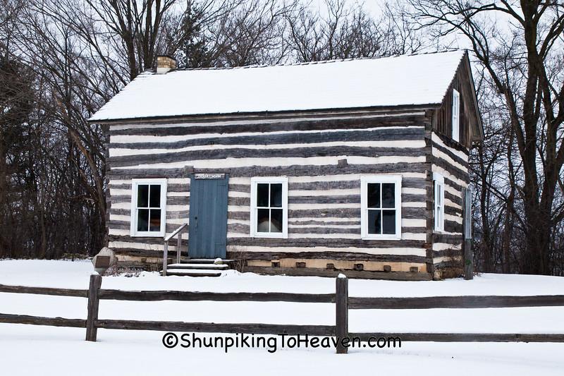 Zickert House Log Cabin, Pioneer Aztalan, Jefferson County, Wisconsin