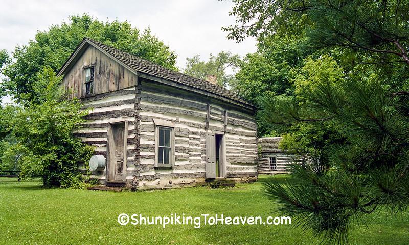 Zickert House Log Cabin, Pioneer Aztalan Jefferson County, Wisconsin