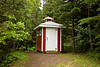 Outhouse at Larsmont School, Lake County, Minnesota