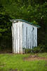 Outhouse at McCray School, circa 1915, Alamance County, North Carolina