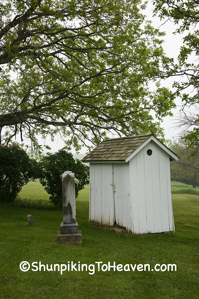 Outhouse and Gravestones at Hauge Log Church (1852), Dane County, Wisconsin