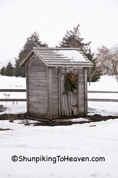Gray Outhouse in Winter, Jefferson County, Wisconsin