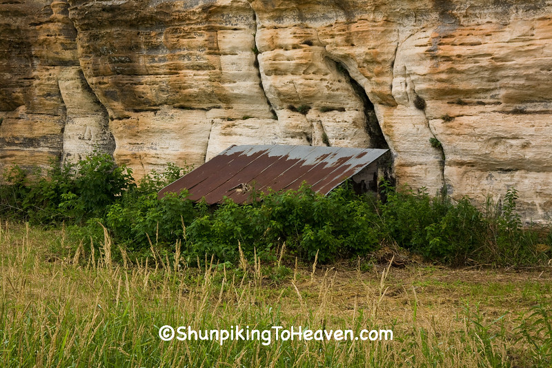 Spring House by Steamboat Rock, Richland County, Wisconsin