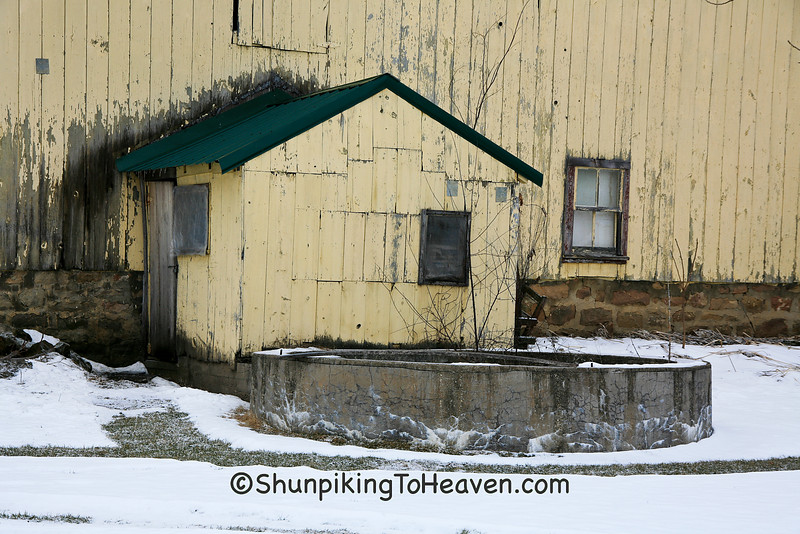 Milkhouse and Cistern in Winter, Richland County, Wisconsin
