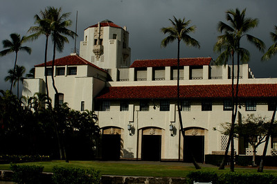 Honolulu Hale, built in 1928 is a beautiful building created in a California-Spanish style designIts interior courtyard, stairs, speaker's balcony and open ceiling were modeled after the Bargello, a 13th Century Palace in Florence, Italy.Honolulu, Hawai'i