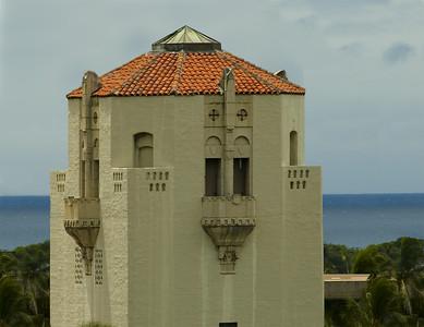 Honolulu Hale cupola with surrounding buildings digitally removed California-Spanish style design Honolulu, Hawai'i