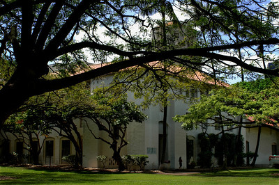 Honolulu Hale, built in 1928, is a beautiful building created in a California-Spanish style designBack of the buildingHonolulu, Hawai'i