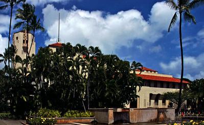 Honolulu Hale, built in 1928, is a beautiful building created in a California-Spanish style designHonolulu, Hawai'i